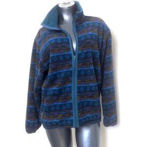 Vintage L.L Bean Western Pattern Fleece Jacket